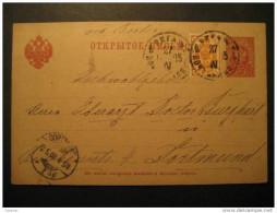RUSSIA Riga Latvia Lettonie 1903 To Dortmund Berlin Germany Allemagne Postal Stationery Card Russie Ussr Cccp Russland - Briefe U. Dokumente