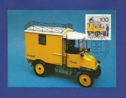 Berlin 1990  Mi.Nr. 878 , Wohlfahrtsmarken  - Geschichte Der Post - Maximum Card - Erstausgabetag  Berlin 27.09.1990 - Maximumkarten (MC)