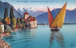 Suiza..Vaud--Lac Leman--Chateau De Chillon Et La Dent Du Midi - Castillos
