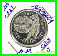 ALEMANIA  DBR.  MONEDA DE 10 DM CONMEMORATIVA  AÑO 1987 J -PROOF - [10] Conmemorativas