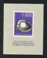 JUGOSLAVIA - 1962 -BF N.D. DA 600 D. Nuovo Stl DEDICATO AI CAMPIONATI EUROPEI DI ATLETICA - IN OTTIME CONDIZIONI. - Atletica
