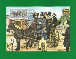 Berlin 1990  Mi.Nr. 861 , 250 Jahre öffentlicher Personenverkehr  - Maximum Card - Erstausgabetag Berlin 12.01.1990 - Maximumkarten (MC)