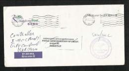 Hong Kong China Postal Service Air Mail Postal Used Cover International Mail Centre Postmark HongKong To Pakistan - Hong Kong (1997-...)