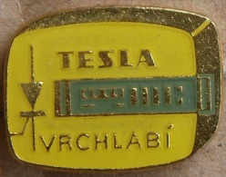 Nikola TESLA Company Czechoslovakia Electronic Industry Vrchlabi Pin Badge - Markennamen