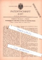 Original Patent  - Friedrich Wegmann In Zürich , 1885 , Maschinenelemente !!! - Documents Historiques
