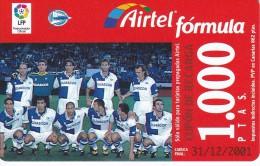 ACR-067 TARJETA DE AIRTEL DEL EQUIPO DE FUTBOL ALAVES 2 DE1000 PTAS (FOOTBALL) - Spain