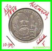 ALEMANIA  DBR.  MONEDA DE 10 DM CONMEMORATIVA  AÑO 1988- F - [10] Conmemorativas