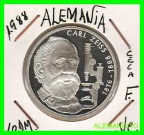 ALEMANIA  DBR.  MONEDA DE 10 DM CONMEMORATIVA  AÑO 1988- F  PROOF - [10] Conmemorativas