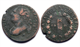12 Deniers - Constitution 1791 N (Montpellier) Cuivre. Double Frappe - 1789 – 1795 Monedas Constitucionales