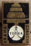 Nikola TESLA Company Czechoslovakia Electronic Industry Vrsovice Pin Badge - Trademarks