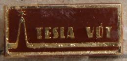 Nikola TESLA Company Czechoslovakia Electronic Industry VUT Pin Badge - Marques