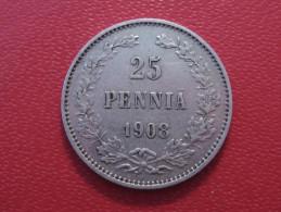 Finlande - 25 Pennia 1908 L 4013 - Finlande