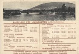 Fahrpläne Fùr Linienfahrten. Hans Henneberger - Personenschiffsreederei.  Miltenberg A. Main.  S-2593 - Europe