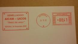 AICAM SPECIMEN GEMELLAGGIO UICOS  ITALY VERONA 2002 - METER STAMPS EMA FREISTEMPEL FRANQUEO MECANICO - Affrancature Meccaniche Rosse (EMA)