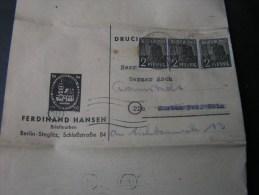== Drucksache MeF  1948 ? - Sowjetische Zone (SBZ)