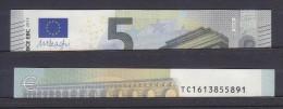 IRLANDA IRELAND 5 EURO 2013 DRAGHI SERIE TC 1613855891 T001I5 UNC FDS NEW BANKNOTE NUOVA BANCONOTA - EURO