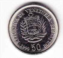 1999 Venezuela 50 Bolivares Coin - Venezuela