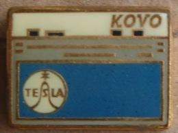 Nikola TESLA Company Czechoslovakia Electronic Industry Kovo Pin Badge - Marques