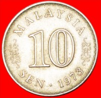 ★STAR AND CRESCENT: MALAYSIA ★ 10 SEN 1973 MINT LUSTER! LOW START★NO RESERVE! - Malaysie