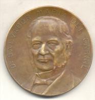 DR. SALVADOR MARIA DEL CARRIL MEDALLA CENTENARIO DE LA CARTA DE MAYO 1825-1925 TBE GRAN FORMATO MACONNERIE CELEBRE MASON - Firma's