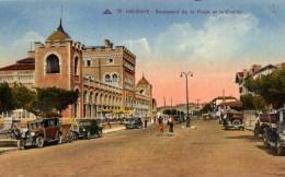 64 HENDAYE Boulevard De La Plage Et Le Casino ,voitures Anciennes - Hendaye