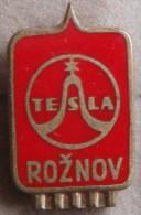 Nikola TESLA Company Czechoslovakia Electronic Industry Roznov Pin Badge - Marques