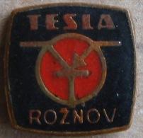 Nikola TESLA Company Czechoslovakia Electronic Industry Roznov Pin Badge - Marcas Registradas