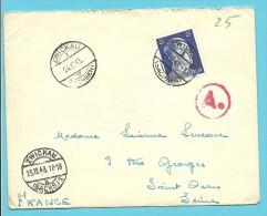 """Brief Met Stempel ZWICKAU Op 24/12/43 Met Stempel BETRIEBSLAGER / WEISENBORN -> """"France"""" (VK) - Briefe U. Dokumente"""