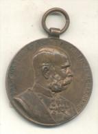 FRANC JOS I D G IMP AUSTR REX BOH ETC 1848-1898 SIGNUM MEMORIAE MEDALLON GRAND FORMAT - Royaux/De Noblesse