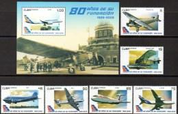 CUBA 2009 - Compagnie Aérienne Cubana (6 + BF) - Aerei