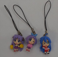 3 Japanese Strap Figurines ( Used ) - Charms