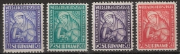 Suriname 1928 Van Heemstra Stichting NVPH 137-140 Ongestempeld/MLH/* - Surinam ... - 1975