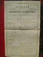 Dudestii Vechi-Obesenyo-Romania-Hungary-Bulgarija-Kivonat-Banat-Torontal-1917  (K-2) - Historische Dokumente