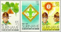 Suriname 1974 50 Years Scouting In Suriname - NVPH 627 Ongestempeld - Suriname ... - 1975