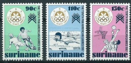 Suriname 1987 Panamerica Games, sports, football, swimming, basketball MNH/**/Postfris