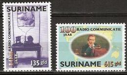 Suriname 1996 100 jaar Radio Communicatie, communication MNH/**/Postfris