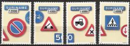 Suriname 2001 Traffic Signs, verkeersborden, safety  MNH/**/Postfris