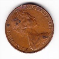 1981 Australia 2 Cent Coin - Decimal Coinage (1966-...)
