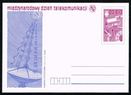 Poland Postal Card Ruch #CP 673 Int. Telecomm. Day; Mint - Stamped Stationery