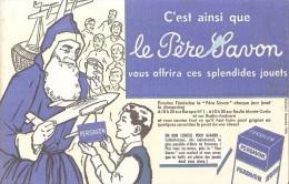Buvard Persavon-le Pere Savon Distribue Des Jouets - Buvards, Protège-cahiers Illustrés