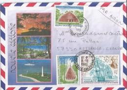 Nouvelle Calédonie  Lettre Par Avion 08 /09 /1989 VERS Département 57 Fr - Covers & Documents