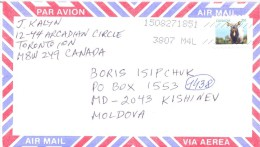 2015. Canada, The Letter By Air-mail Post To Moldova - 1952-.... Règne D'Elizabeth II