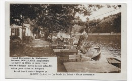 OLIVET - LES BORDS DU LOIRET - RESTAURANT DE MADAGASCAR AVEC PERSONNAGES - CANOT AUTOMOBILE - CPA VOYAGEE - France