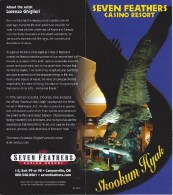 Seven Feathers Casino - 2-Page Brochure - Canyonville, OR USA - Casino Cards