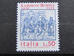 ITALIA NUOVI 1974 - LUDOVICO ARIOSTO - MNH ** - S. 1268 - 6. 1946-.. Repubblica