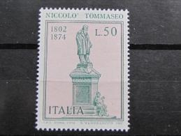 ITALIA NUOVI 1974 - NICOLO´ TOMMASEO - MNH ** - S. 1266 - 6. 1946-.. Repubblica