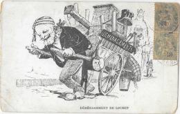 Déménagement De Loubet 1906 - Dessin Satirique: Le Départ De L'Elysée - Satiriques