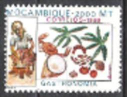 Mocambique 1998 Kultur Gastronomie Essen Ernährung Gerichte Matapa Kassava Kokos Erdnüsse Gewürze, Mi. 1412 ** - Mosambik
