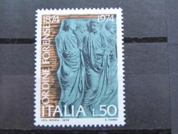 ITALIA NUOVI 1974 - CENTENARIO ORDINE FORENSE - MNH ** - S. 1274 - 6. 1946-.. Repubblica
