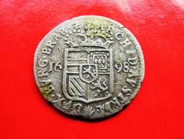 BRABANT Doubele Patard (Dubbele Stuiver) 1698 Antverpen RR! Karl II (1665-1700) - Belgien